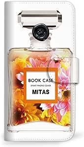 mitas スマホケース 手帳型  香水2 花C 37_らくらくスマートフォン4 (F-04J)
