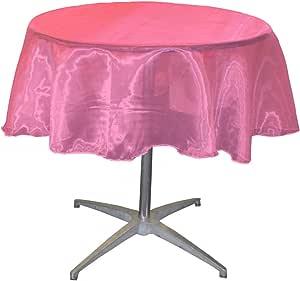 LA linen 透明薄纱镜子欧根纱圆形桌布147.3cm