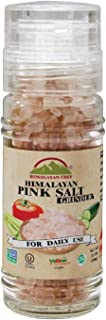 Himalayan Chef Pink Salt Refillable Grinder, 3.53-Ounce, Pure Gourmet Crystals Salt