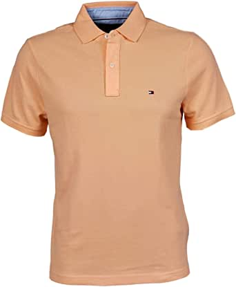 Tommy Hilfiger 汤米·希尔费格男式定制纯色Polo衫 浅橙色 XX-Large