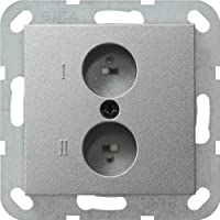 GIRA 040226 立体声扬声器插座系统 55 铝