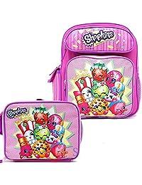 Shopkins 校园背包套装 12 英寸小背包 带午餐袋 2 件套 驼鹿