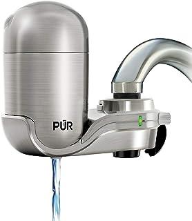 PUR 3 级垂直水龙头安装,带过滤器 不锈钢色 PUR