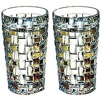 Nachtmann 奈赫曼 波萨诺瓦系列330ml水杯 啤酒杯0092075-0 水晶玻璃水杯 果汁杯 2只价 安全包装(亚马逊自营商品, 由供应商配送)