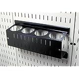 Wall Control ASM-CH-014 B 钉板喷雾罐支架和气溶胶罐收纳器适用于钉板和开槽工具板 黑色 14in x 7in ASM-CH-014 B