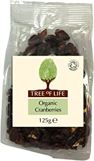 Tree of Life Organic Cranberries 125 g (Pack of 6)