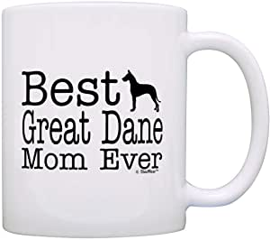 爱狗人士礼物 Best Great Dane Mom Ever 礼物咖啡杯茶杯 白色 11 盎司 na