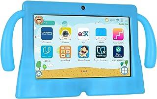 Xgody 7 英寸高清安卓儿童平板电脑四核安卓 8.1 GMS 16GB 父母控制触摸屏带 WiFi 预加载 3D 游戏双摄像头 蓝色T702
