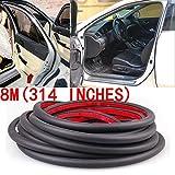 适用于汽车侧门/车罩 8M 314 英寸 D 形橡胶条密封防风雨条
