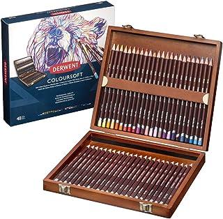 Derwent Colorsoft Pencil Set, 4mm Core, Wooden Box, 48 Count (2301660)