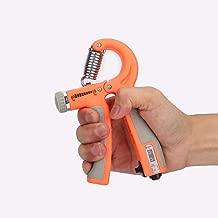 *手柄增強器可調節阻力,11-132 磅(5-60 千克)適用于手抓練習、力量訓練、手腕力量訓練、手腕力量鍛煉、橙色