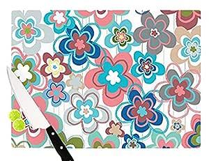 "Kess InHouse""A Marsala Morning""Jolene Heckman 玻璃砧板,29.21 x 39.37 cm,花卉"