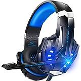 BENGOO G9000 立体声游戏耳机,适用于 PS4,PC,Xbox One 控制器,降噪耳机,带麦克风,LED灯,低音环绕,柔软*耳罩G9000  1