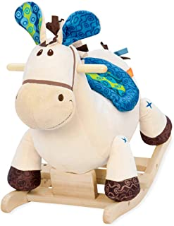 B.Toys 比乐 摇摇马 木摇马 木质毛绒摇椅玩具  婴幼儿童益智玩具 礼物18个月+ BX1512Z