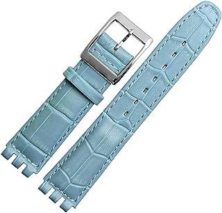 Choco&Man 美國樣品手表荔枝紋牛皮不銹鋼皮帶扣帶工具手表寬度17mm 男式樣品替換品