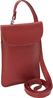 Piel Leather Smartphone Hanging Case, Red, One Size