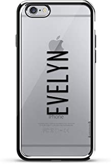 LUXENDARY CASE 对开式 黑色LUX-I6CRM-NMEVELYN2 Name: EVELYN, Modern FONT Style 银色