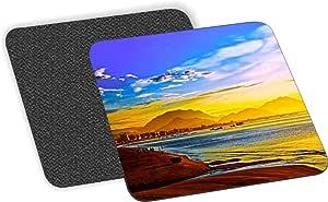 Rikki Knight Sunset Design-Soft Square Beer Coasters (Set of 2), Multicolor