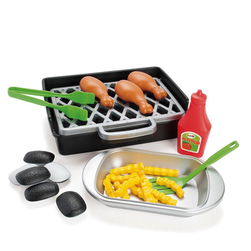 丹麦dantoy 原装进口幼儿园早教益智过家家玩具仿真烧烤拌家家套餐