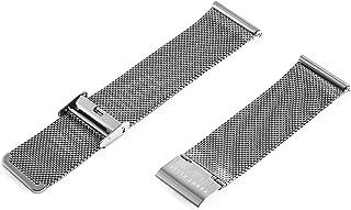 Perry Ellis 表带快速释放不锈钢网状表带 24 毫米皮带替换可调节腕带表带 男式女式智能手表
