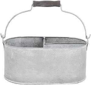 Esschert Design 旧锌椭圆形桶带 3 个隔层 小号 OZ28