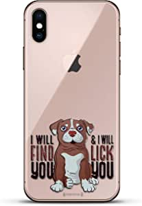 Luxendary Un-Case 系列设计师玻璃背板 iPhone Xs/XLUX-IXGL-DOG4 QUOTE: I Will Find You Dog Quote 透明