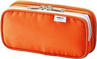 "LIHIT LAB 雙筆套,黑色,3.3 x 6.9 英寸(A-7660-24) 3.3"" x 6.9"" 橙色"