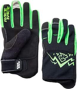 RaceFace 黑色-绿色德wey 儿童 MTB 手套