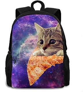 Galaxy Pizza Cat 成人儿童中性款背包学校儿童书包旅行背包轻质背包适合男孩女孩男士女士