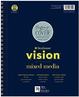 Strathmore (662-59 Vision Mixed Media Pad,22.86x30.48 cm,70 张