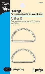 Dritz D-Rings 单反相机闪光灯配件 镍色 1-1/2-Inch 782-65
