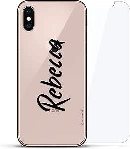 奢华隐形,酷炫设计,钢化玻璃背板,360 度保护贴膜,适用于 iPhone XS/XLUX-IXGL360-NMREBECCA1 NAME: NAME: REBECCA, HAND-WRITTEN STYLE 透明