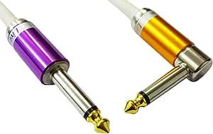 【Live Line】Advance系列 6M S/L 插头 白色电缆 S型插头(紫色)-L型插头(橙色) 定制品 AELLLAWH06MSLPpOr