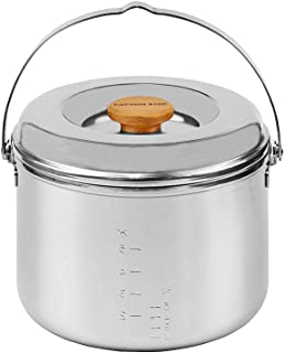 CAPTAIN STAG鹿牌野营 烧烤用 电饭煲 3层钢饭煲5合 M-8610M-8610