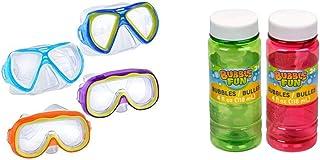 Grienbrier 成人儿童游泳面罩*管护目镜气泡颜色可能有所不同 - 共 6 个