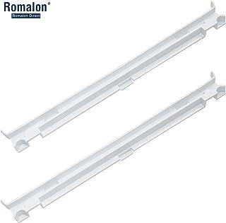 Romalon 2 件装 2223320 轨道冰箱清爽抽屉滑轨与Whirlpool 冰箱平底滑块替换编号 1016208,AH869557,EA869557,PS869557 - 一套导轨