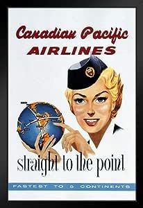 加拿大太平洋航空公司复古旅行海报 30.48 x 45.72 cm 海报 30.48 x 45.72 cm Framed Poster 14x20 inches 339562