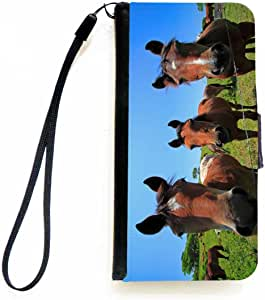 Rikki Knight Three Horses Close-Up Flip Wallet iPhoneCase with Magnetic Flap for Apple iPhone 5c