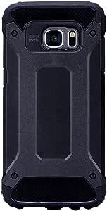 Galaxy S7 edge 手机壳,TNI 混合防震手机壳适用于三星 Galaxy S7 edge 黑色