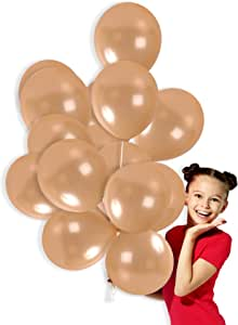 Treasures Gifted 金属单色气球 香槟色 72 Pieces + Ribbon