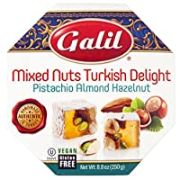 Galil Turkish Delight Octagon, Mixed Nuts, 8.8-Ounce Box (Pack of 1)