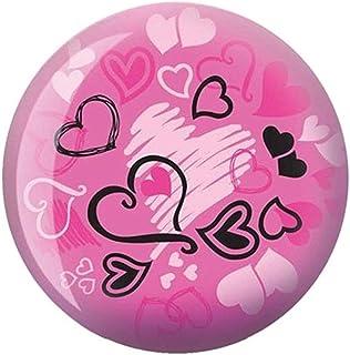 Brunswick Hearts Glow Viz-A-Ball 保龄球