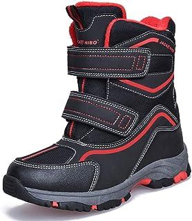 MARITONY 男童女童保暖雪地靴户外冬靴儿童防水防滑轻质雪地靴