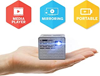 AAXA P2-B LED 投影仪 - 支持全高清 1080P,适用于智能手机、iPhone、游戏、笔记本电脑、带迷你 HDMI 的旅行、板载媒体播放器,电池寿命长达 150 分钟