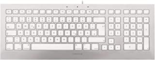 CHERRY Strait 3.0 USB QWERTY 英语 银色,白色 - 键盘(标准,有线,USB,机械交换机,QWERTY,银色,白色)