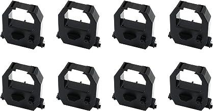 Printerfield 8 件裝兼容時間時鐘墨帶替換件適用于 Vertex TR810/ Amano PIX-21/ Amano PIX3000/ Amano EX-3000/ Amano EX-3500/ Amano EX-5000/ Amano BX-6000 - 黑色
