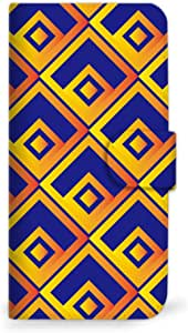 mitas iphone ケース19SC-0065-BO/F-01H 5_arrows Fit (F-01H) 蓝色 橙色