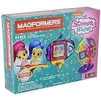 MAGFORMERS nickelodeon 微光和 SHINE Carnival ( 64件套 ) 磁性积木,教育磁性拼贴套装,磁力施工 STEM 玩具套装