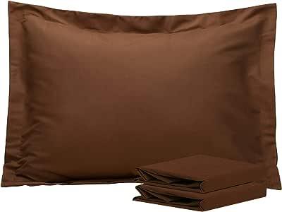 NTBAY * 磨毛超细纤维枕头套,2 件套,柔软舒适,抗皱,褪色,防污渍 咖啡色 标准 20170519PILLOWSHAM-Coffee