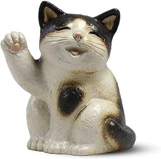 CtoC JAPAN Select 信乐烧 猫 摆件 SA44-6 陶器 宽 16cm x 深 13cm x 高 18.5cm 招福猫(黑白) 6号 时尚 陶器 4510542321137